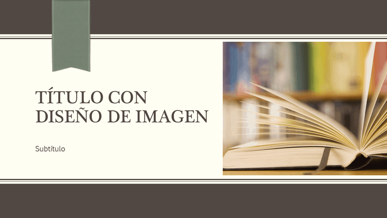 Presentación académica, diseño de cinta y raya diplomática (panorámica)