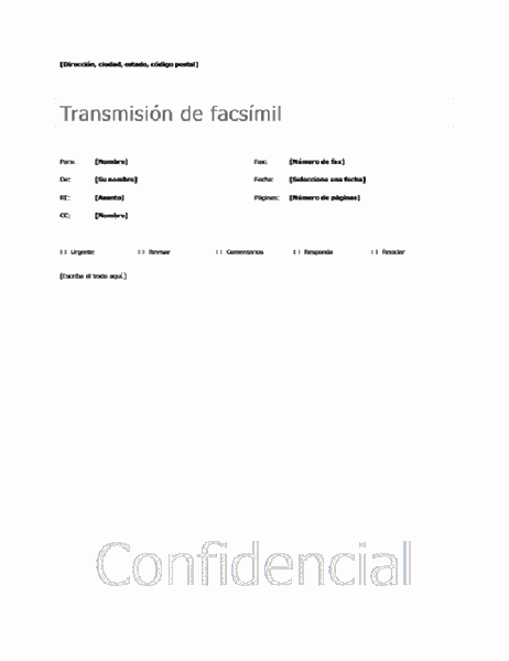 Portada de fax básica