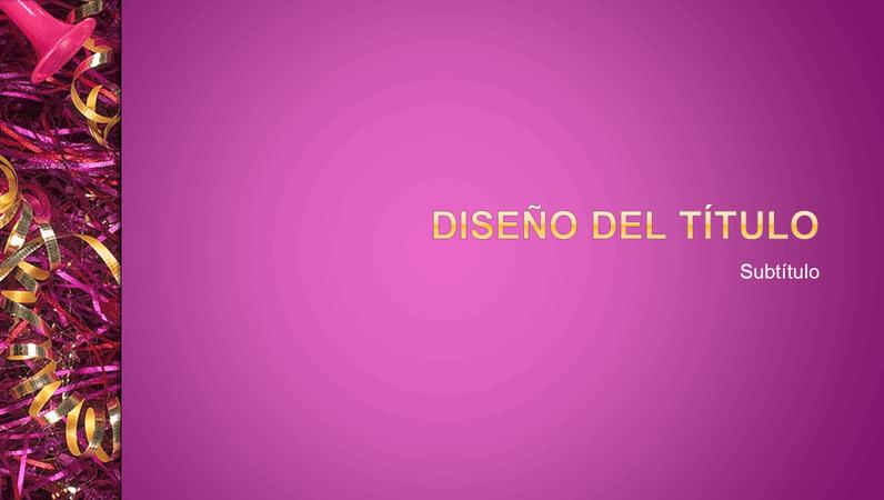 Diseño de diapositivas Celebración