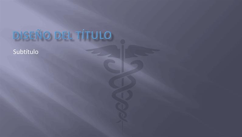 Diapositivas de diseño de presentación médica