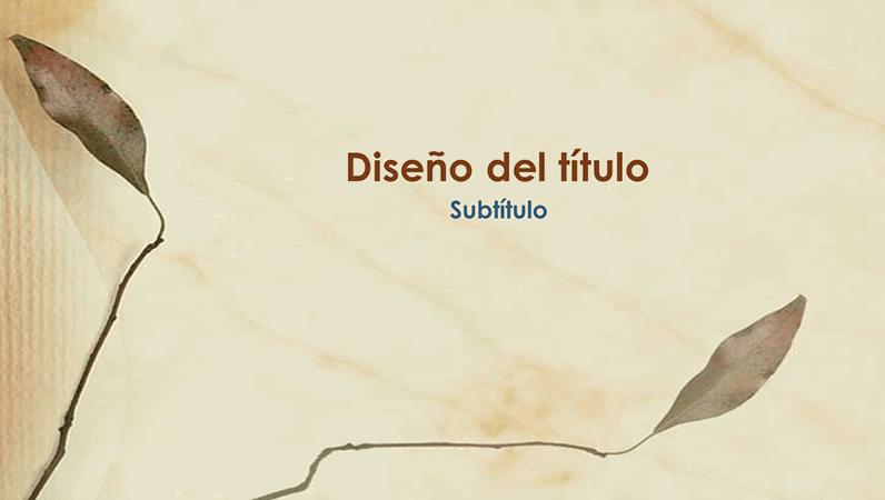 Diapositivas del diseño Hojas prensadas