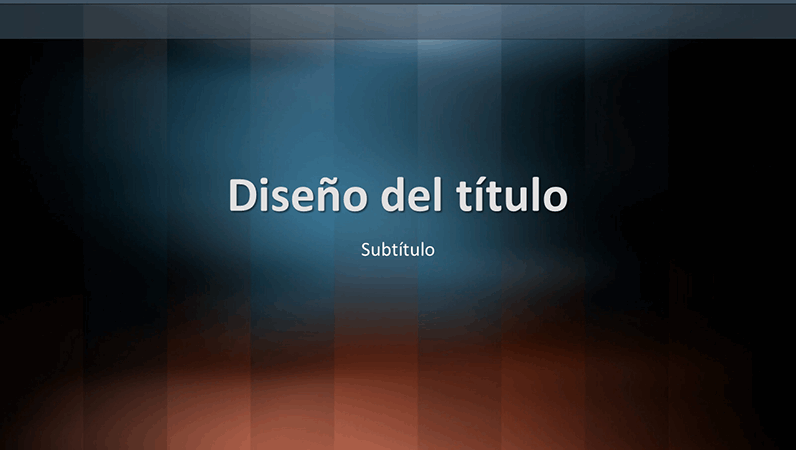 Diapositivas con diseño de léxico vertical