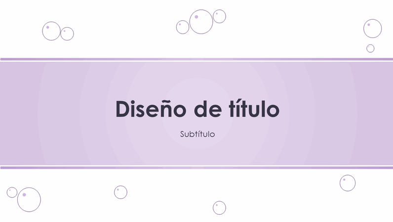 Diapositivas de diseño de burbujas
