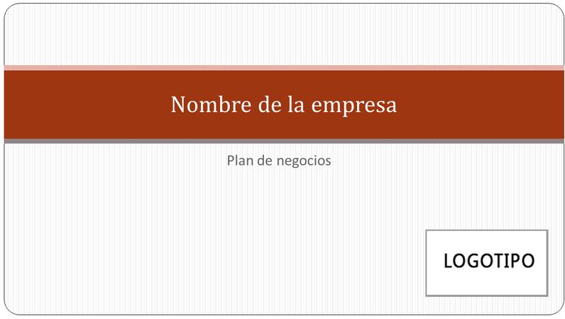 Presentación de plan de negocios