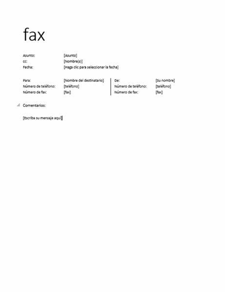 Portada de fax (informal)
