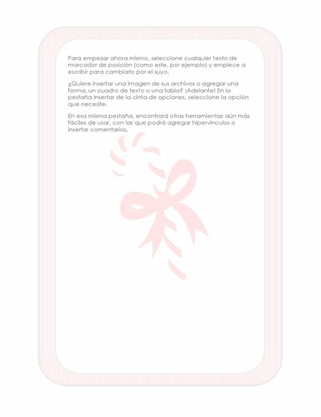 Diseño de fondo navideño (con marca de agua de bastón de caramelo)