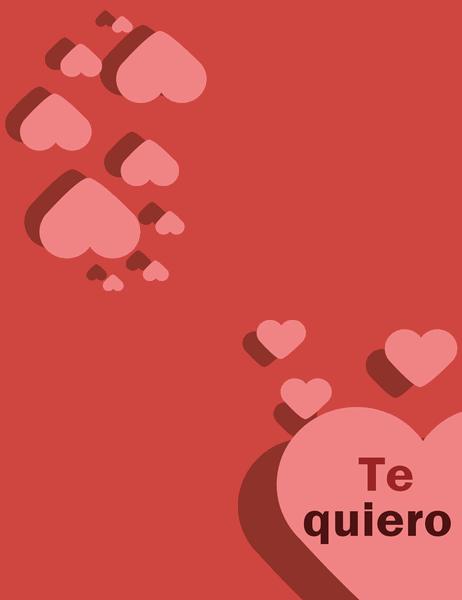 """Tarjeta """"Te quiero"""" (se dobla en cuatro partes)"""