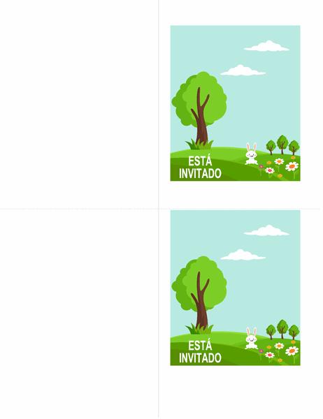 Invitaciones para fiestas de primavera (2 por página)
