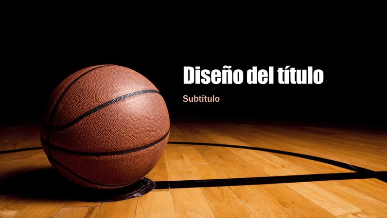 Presentación de baloncesto (panorámica)