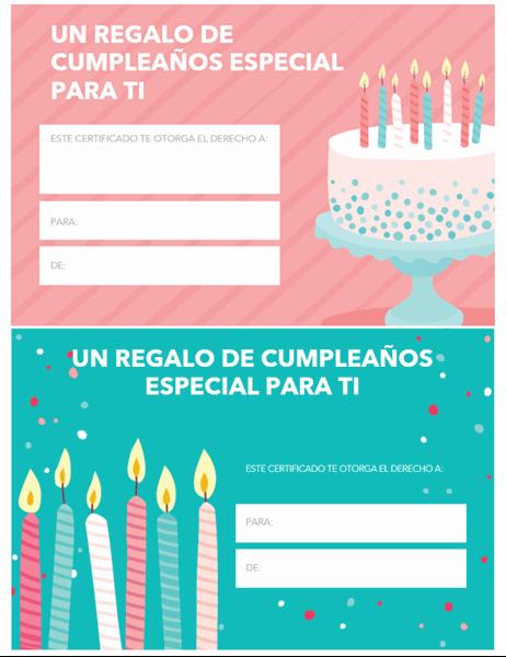 Tarjeta De Regalo De Cumpleaños Diseño Brillante