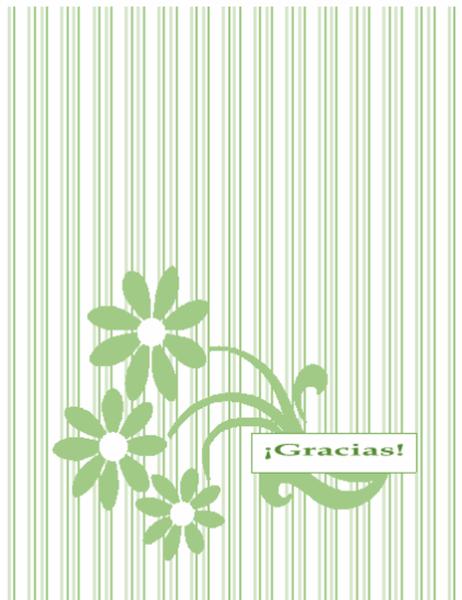 Tarjeta de agradecimiento de recaudación de fondos
