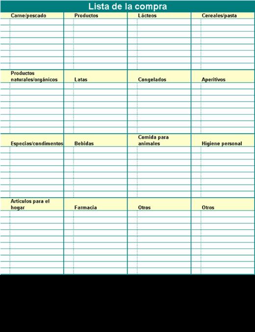 Lista de la compra