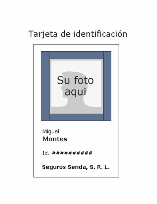 Etiqueta de identificación del empleado (vertical)