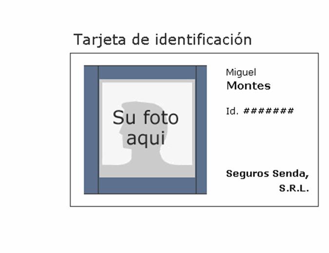 Etiqueta de identificación del empleado (horizontal)