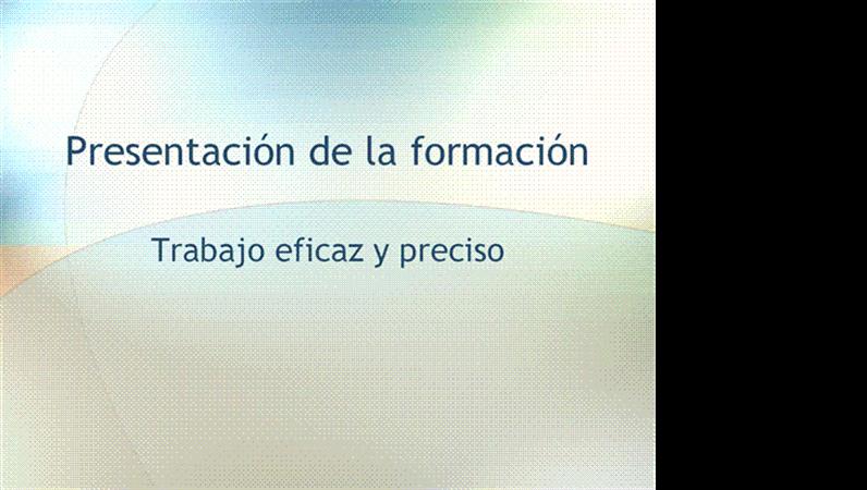 Presentación de seminario de formación