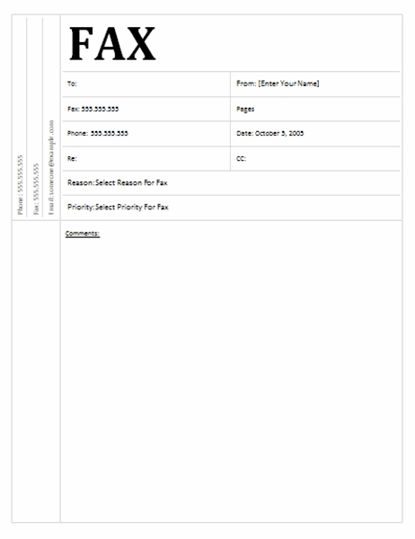 Portada de fax (diseño académico)