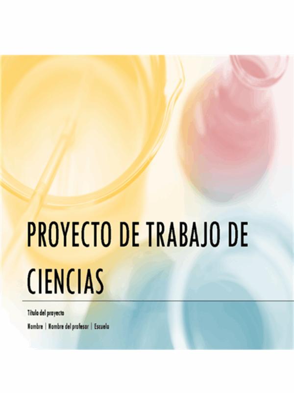 Presentación de un proyecto de ciencias en limpio