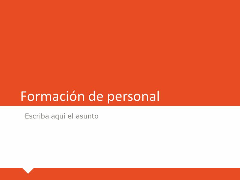 Formación de personal