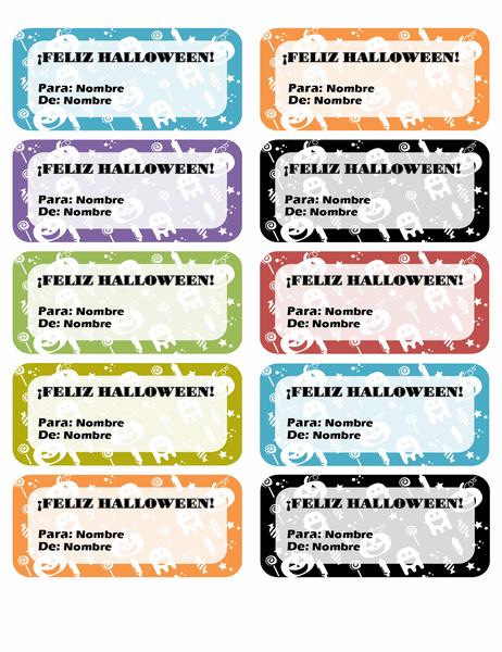 Etiquetas de Halloween (10 por página)