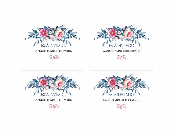 Invitación a fiesta (diseño floral)