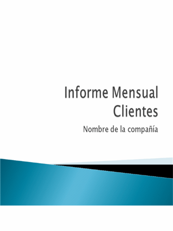 Informe mensual (clientes)