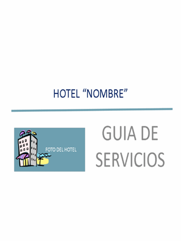 Presentación de servicios (Hostelería)