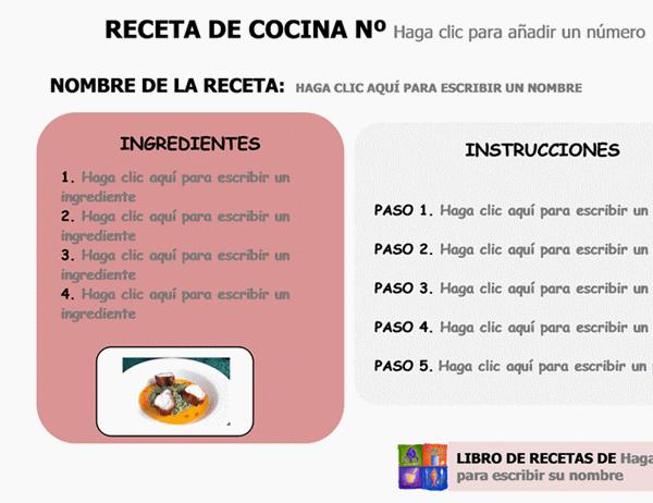 Tarjeta de receta