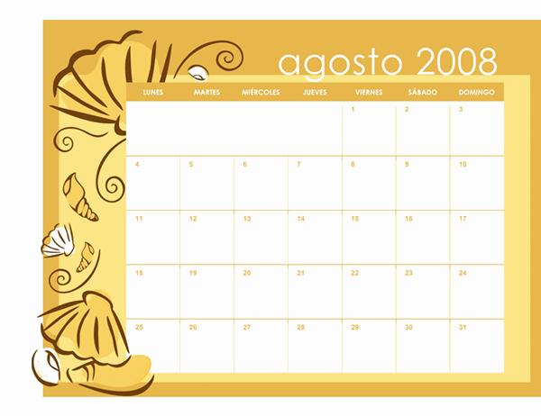 Calendario académico 2008-2009 (temas mensuales, 13 pág., lun-dom, ago-ago)