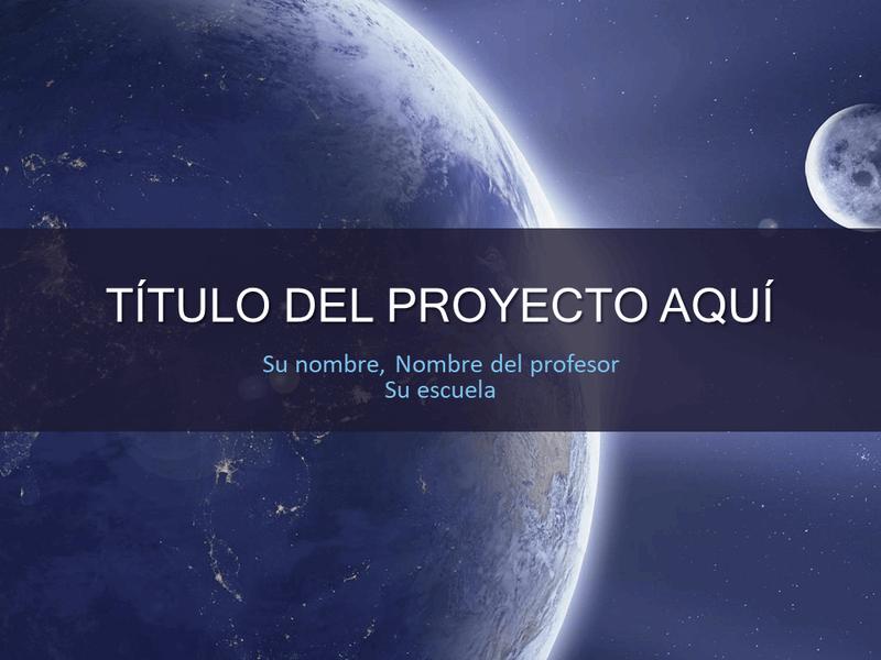 Proyecto escolar del sistema solar.