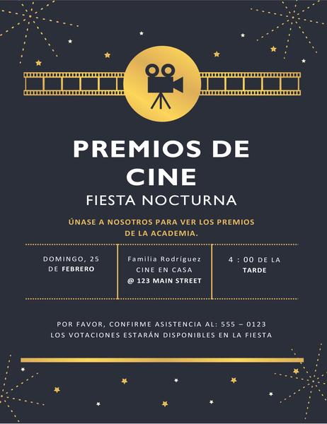 Invitación para premios de cine
