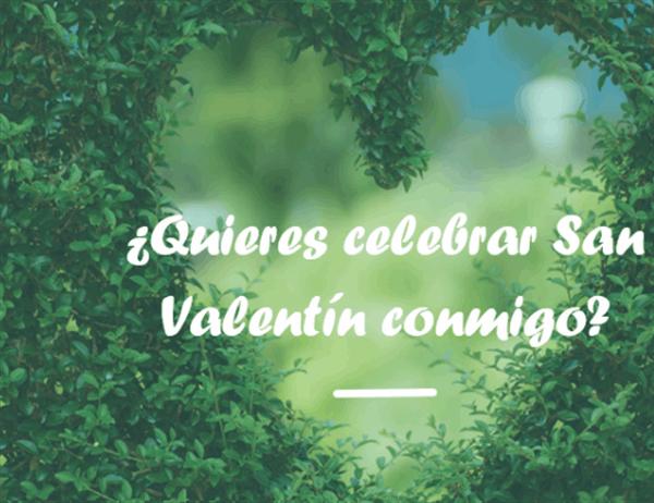 Tarjeta para el Día de San Valentín (se dobla en dos partes)