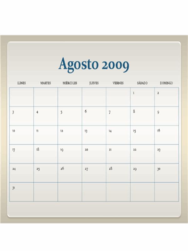 Calendario académico de 2009-2010 (13 páginas, lunes a domingo)