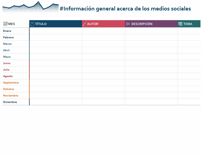 Información general anual calendario editorial