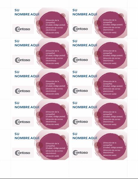 Conjunto de tarjeta de presentación rosa