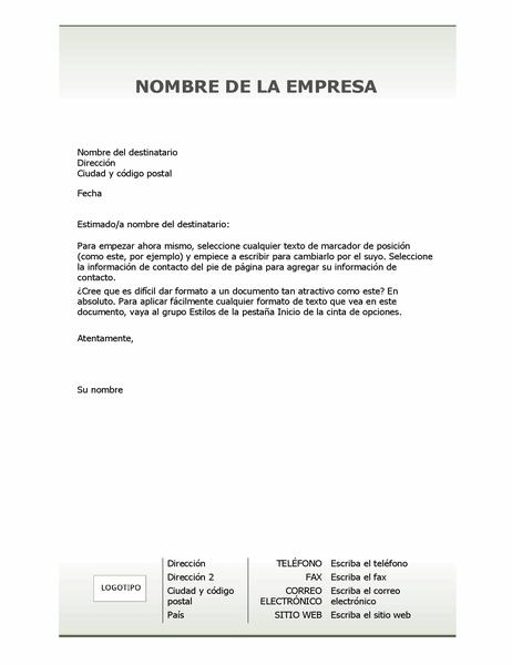 Papel carta de membrete de empresa (diseño Simple)
