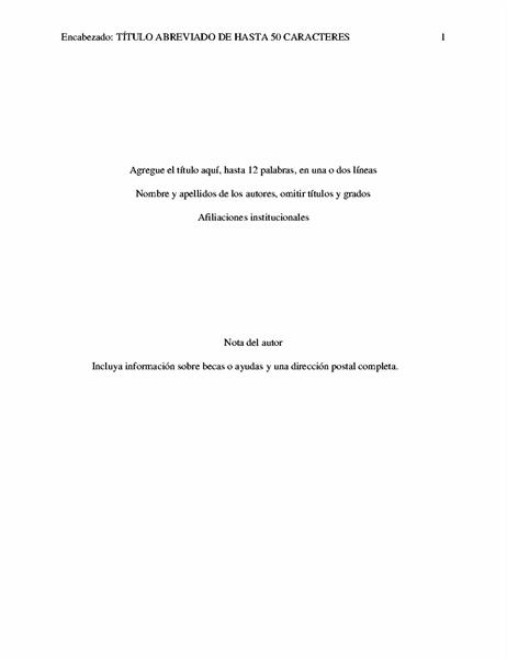 Documento de estilo APA