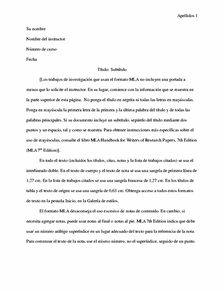 Documento de estilo MLA