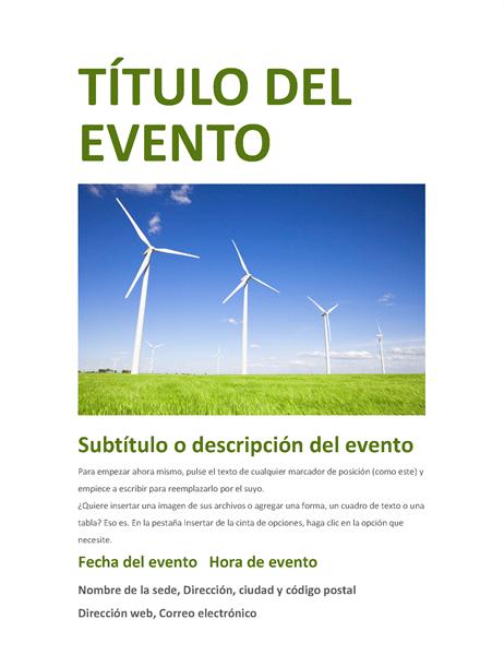 Folleto de evento (verde)
