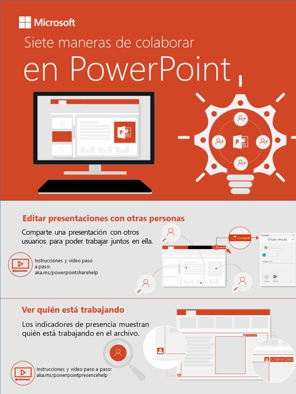 Siete formas de colaborar en PowerPoint