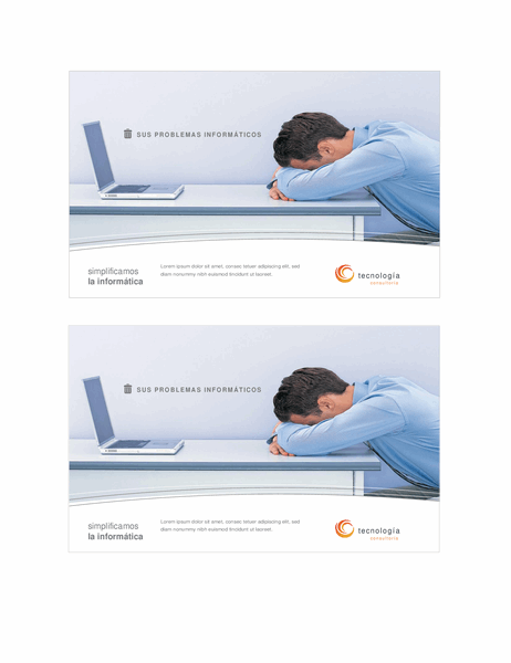 Tarjeta de empresas de tecnología (2 por página)