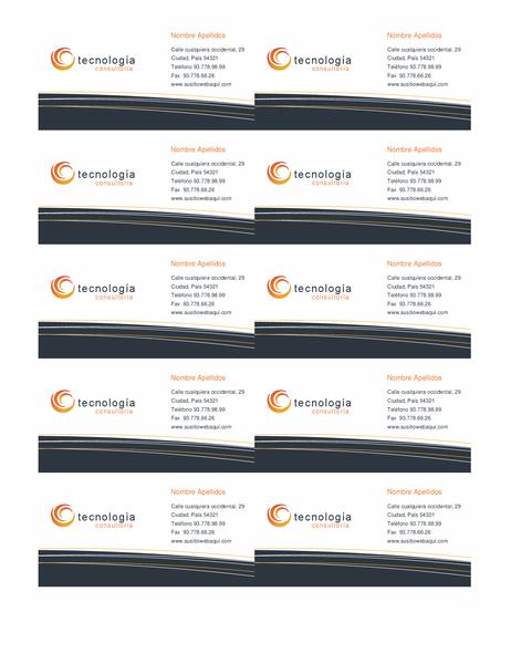 Tarjeta de empresas de tecnología (10 por página)