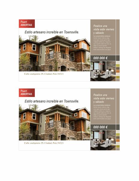 Tarjeta postal inmobiliaria (2 por página)