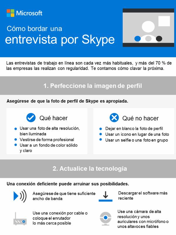 Cómo bordar una entrevista por Skype