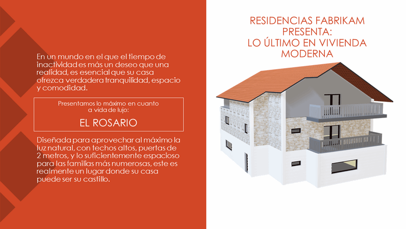 Fabrikam Residences: lo último en vida moderna