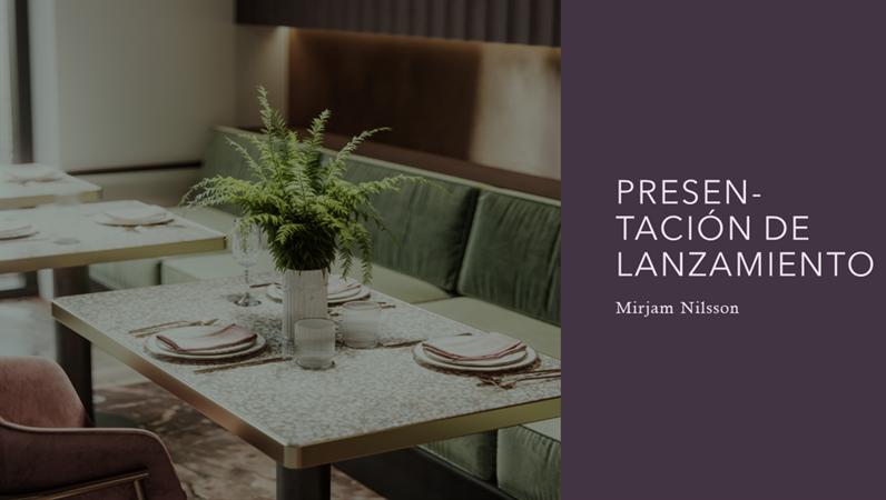 Presentación para inversores de un restaurante