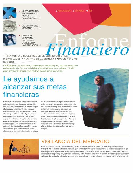 Boletín de negocios financieros (2 páginas)