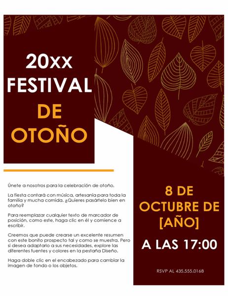 Prospecto de festival de otoño
