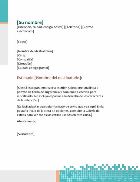 Membrete de fax técnico minimalista