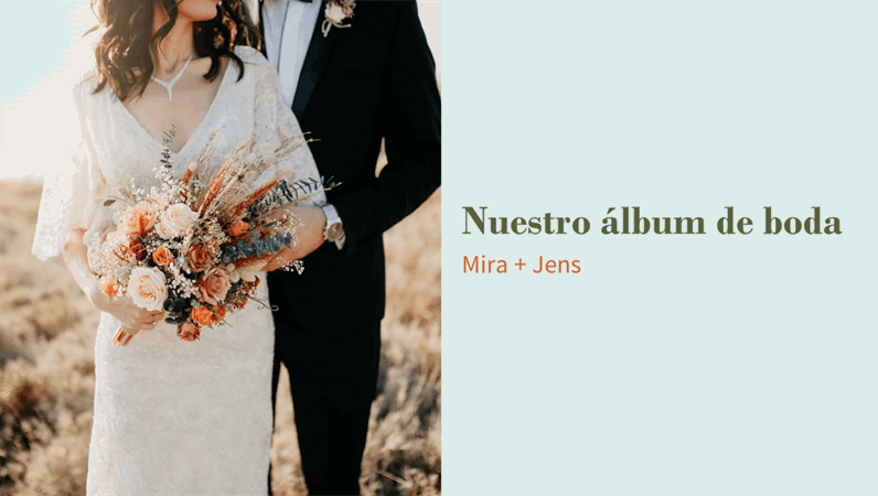 Álbum de boda floral