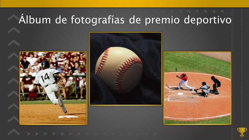 Álbum de fotografías de premio deportivo